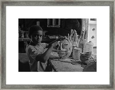Mask Maker Framed Print
