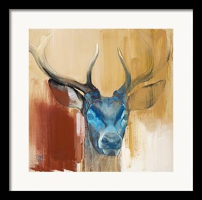 Red Deer Framed Prints