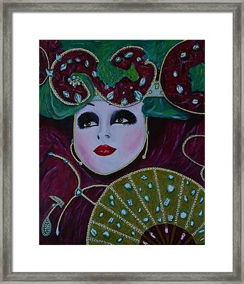 Mask Parade Framed Print by David Hawkes