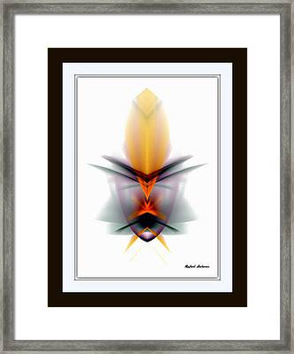Framed Print featuring the mixed media Mask by Rafael Salazar