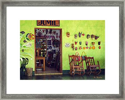 mask shop in Mexico Framed Print
