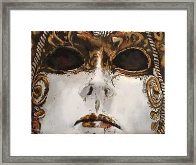 Mask Framed Print