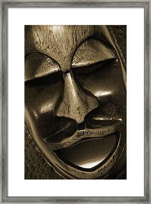 Mask1734 Sepia Framed Print by Carolyn Stagger Cokley