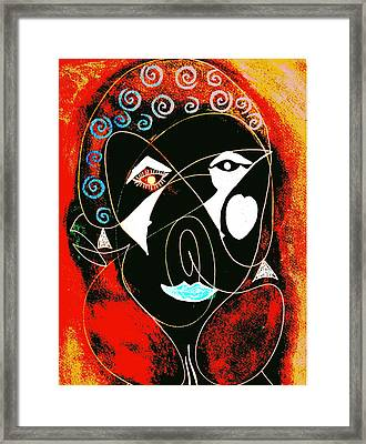 Masked Abstract Framed Print