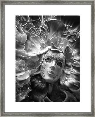 Framed Print featuring the photograph Masked Angel by Amanda Eberly-Kudamik