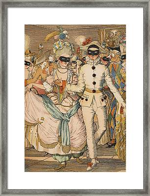 Masked Ball Framed Print