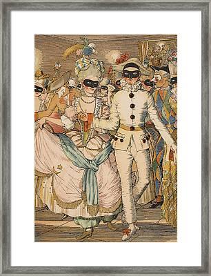 Masked Ball Framed Print by Konstantin Andreevic Somov