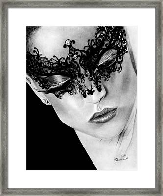 Masked Dance Framed Print by Kayleigh Semeniuk