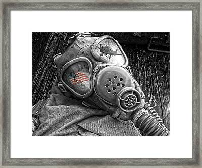 Masked Freedom Framed Print by Kristie  Bonnewell