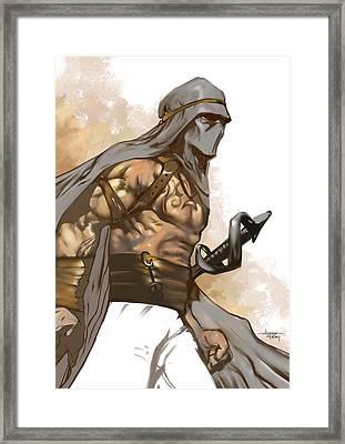 Masked Guard Framed Print by Ashraf Ghori