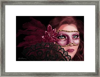 Masked I Framed Print by April Moen