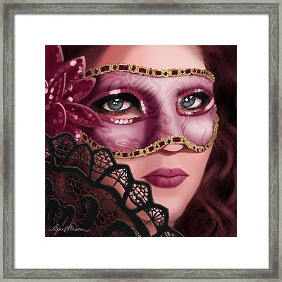 Masked II Framed Print by April Moen