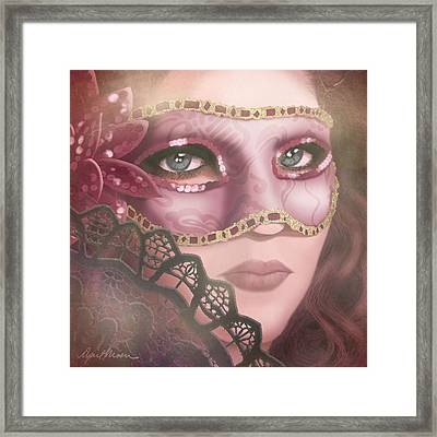 Masked Iv Framed Print by April Moen