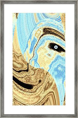 Masked- Man Abstract Framed Print by Will Borden