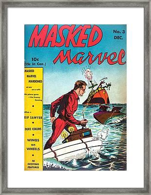 Masked Marvel Framed Print
