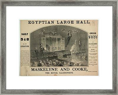 Maskelyne And Cooke Framed Print
