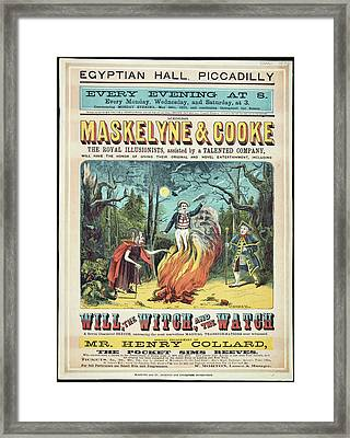 Maskelyne And Cooke's Entertainment Framed Print by British Library