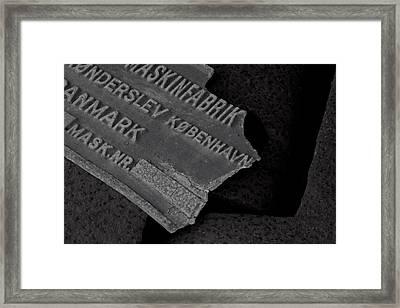Maskinfabrik Framed Print by Odd Jeppesen