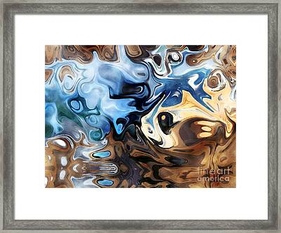 Framed Print featuring the digital art Masks by Annie Zeno