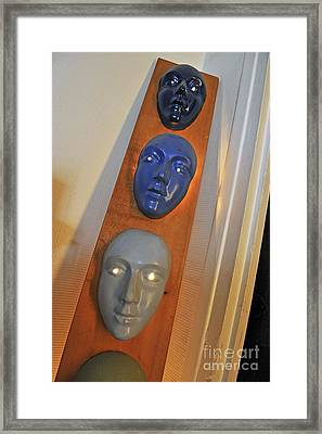 Masks Arragement Framed Print by Sami Sarkis
