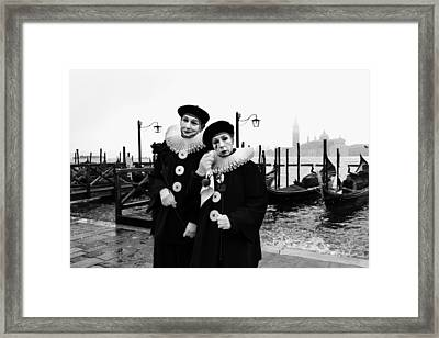 Masks In Venice Framed Print by Yuri Santin