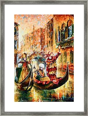 Masks Of Venice Framed Print