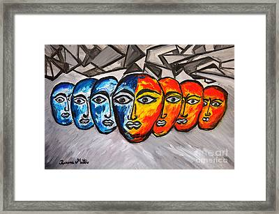 Masks Framed Print by Ramona Matei