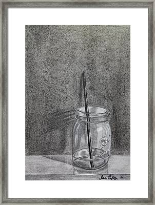 Mason Jar Framed Print by Sara DeForge