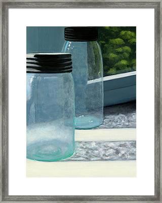 Mason Jars Framed Print