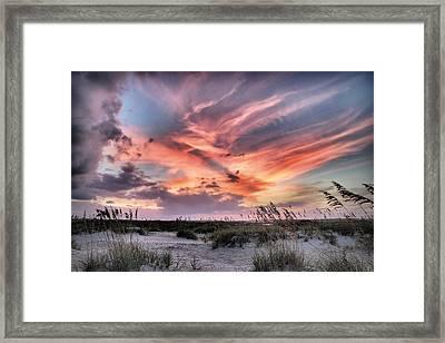 Masonboro Inlet September Sunset Framed Print