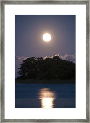 Masonboro Moonrise Framed Print by Phil Mancuso