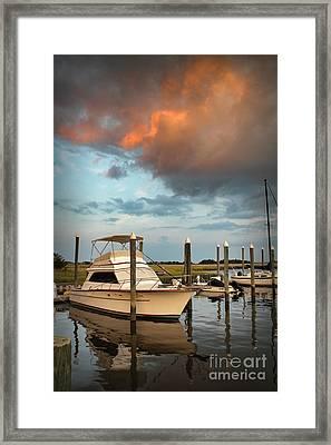 Masonboro Sunset #2 Framed Print