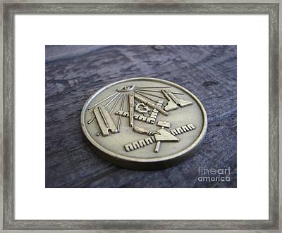 Masonic Medal Framed Print