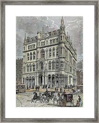 Masonic Temple Opened In 1867 Framed Print by Prisma Archivo