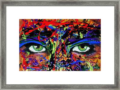Masque Framed Print by Michael Cross