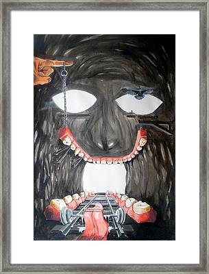 Framed Print featuring the painting Masquera Carcaza  by Lazaro Hurtado