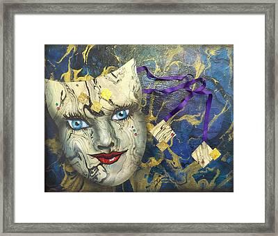 Masquerade Blues Framed Print