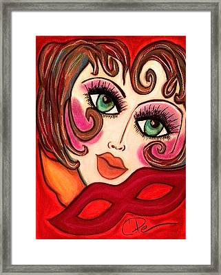 Masquerade Framed Print by Chrissy  Pena