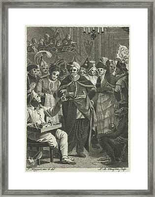 Masquerade, Lambertus Antonius Claessens Framed Print by Lambertus Antonius Claessens