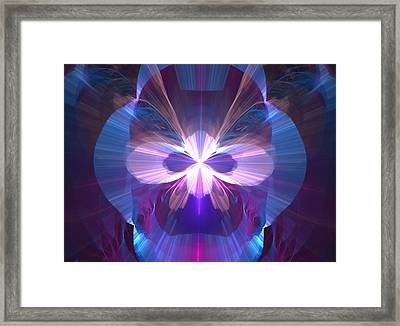 Masquerade Mask - A Fractal Design Framed Print by Gina Lee Manley