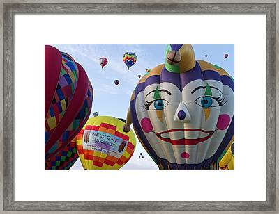 Mass Ascension At The Albuquerque Hot Framed Print by William Sutton
