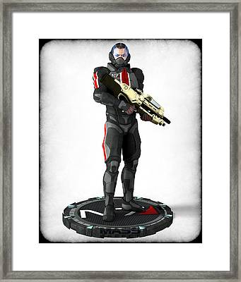 Mass Effect - N7 Soldier Framed Print by Frederico Borges