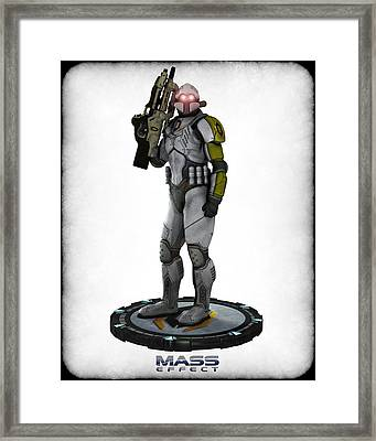 Mass Effect - Cerberus Soldier Framed Print by Frederico Borges