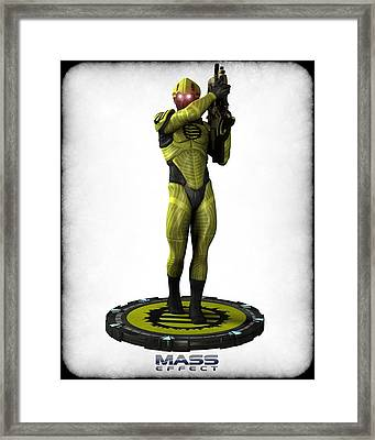 Mass Effect - Eclipse Soldier Framed Print by Frederico Borges