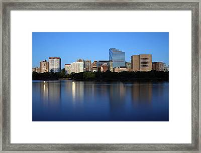 Mass Eye And Ear Infirmary With Boston West End Framed Print by Juergen Roth