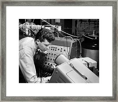 Mass Spectrometry Food Research Framed Print by Agricultural Research Service/us Department Of Agriculture
