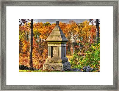 Massachusetts At Gettysburg - 22nd Mass. Volunteer Infantry - In The Rose Woods Framed Print by Michael Mazaika
