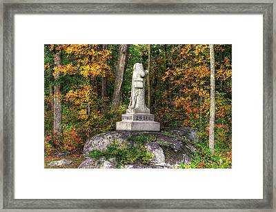 Massachusetts At Gettysburg - 37th Mass. Infantry Autumn Early-evening Sedgwick Avenue Framed Print