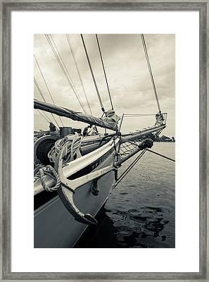 Massachusetts, Gloucester, Schooner Framed Print by Walter Bibikow