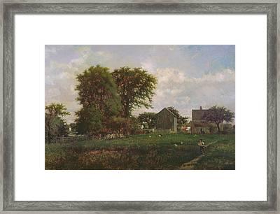 Massachusetts Landscape, 1865 Framed Print